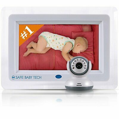 Best Wireless Video Baby Monitor with Night Vision HUGE 7 LCD SCREEN
