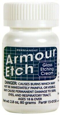 Armour Etch Glass Etching Cream  2-8 oz jar SHIPS TODAY