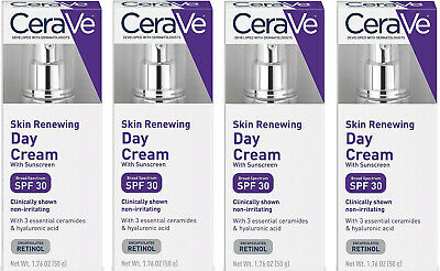 5 Boxes of CeraVe Skin Renewing Day Cream with Sunscreen SPF 30 1-76oz - 012021