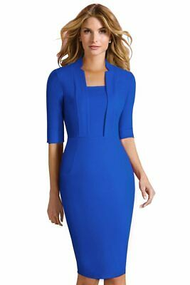 NEW bluered New Princess kate middleton dress Women Office Lady Work Wear Dress