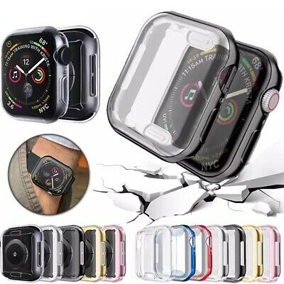iWatch Apple Watch Series 4 3 2 1 Tpu protector Cover Case with Screen 38mm 42mm