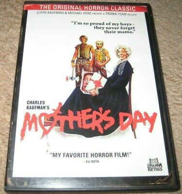 Mothers Day DVD 1980 Charles Kaufman Anchor Bay OOP USA R1 Authentic Troma