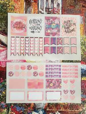 Erin Condren Planner Stickers Inspirational Motivational Stickers Spring Blossom
