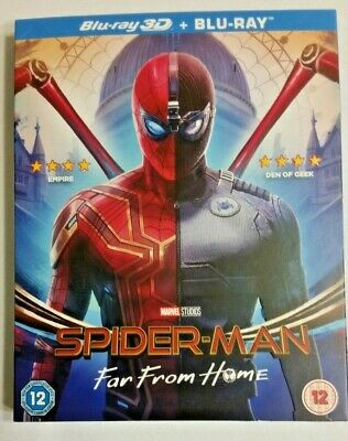Spider-Man Far from Home 3D Blu-ray 3D-2D Includes Slipcover Ready to Ship
