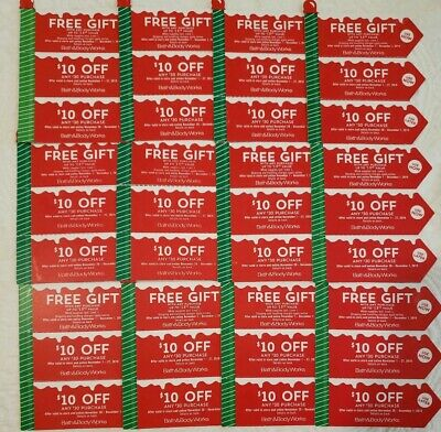 Bath - Body Works Cps fre gift 12 sets total 36 cps- Exp Dec 1 - nov 27-