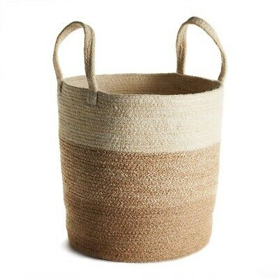 Jute Natural Round Basket with Long Handles