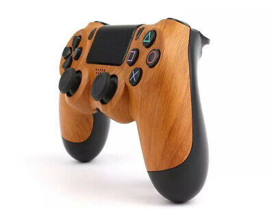 New Wireless Bluetooth Controller for Sony PlayStation PS4 - Custom Wood Grain