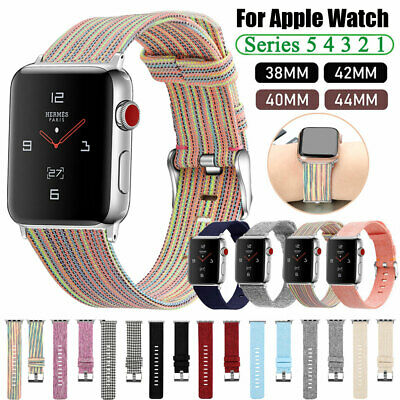 Fabric Canvas iWatch Band Strap for Apple Watch Series 5 4 3 2 1 4044mm 3842mm