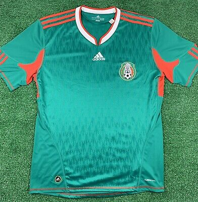 ADIDAS 2010 MEXICO NATIONAL TEAM WORLD CUP SOCCER JERSEY - SIZE LARGE GREEN