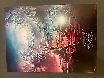 STAR WARS THE RISE OF SKYWALKER IMAX AMC MOVIE POSTER 9-5X13  WEEK 1 RARE