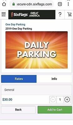 Any Six Flags Park Great Adventure Magic Mountain etc Day Parking Pass 2020