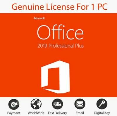 Microsoft Office 2019 Professional Plus Key Code Instant Delivery