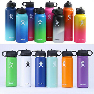 183240oz Hydro Flask Insulated Stainless Wide Mouth Water Bottle w Straw lid