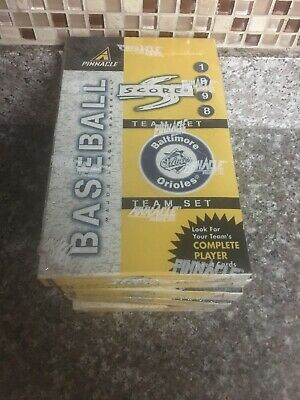 Lot Of 6 1998 Score Baseball Cards Team Sets Wax Boxes Baltimore Orioles