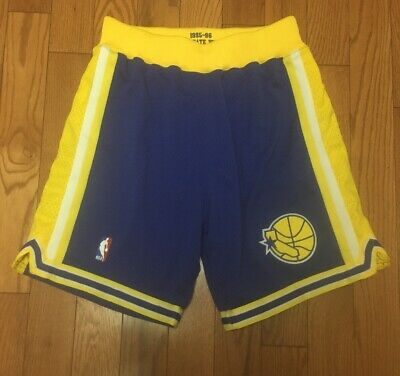 1995-96 Mitchell - Ness Golden State Warriors Authentic Shorts 40 M