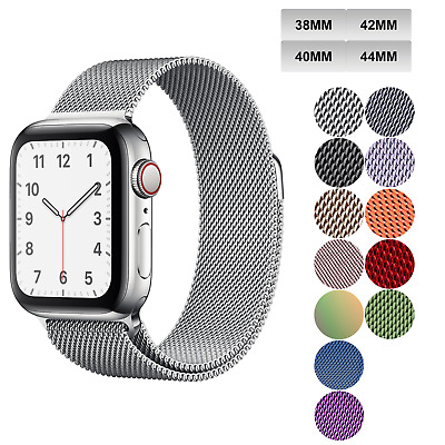 Milanese Loop Apple Watch Band For Series 1-5 38mm 40mm 42mm 44mm Magnetic