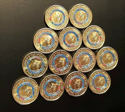 1 x SHINY NEW UNCIRCULATED 2 coin 2020  ICC  T20  WOMENs WORLD CUP