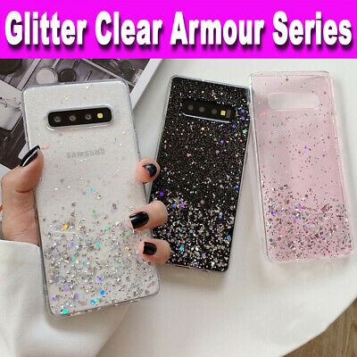 For Samsung S10,S9,S8,S20,A20e,A41,A21s GLITTER BLING Shockproof TPU Case Cover