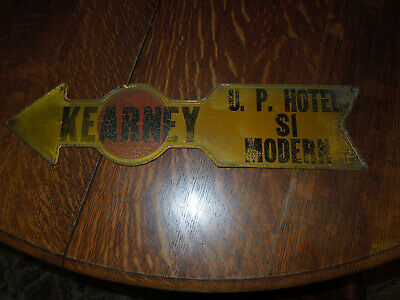 Kearney Nebraska Sign Antique Hotel Arrow Union Pacific RR Lincoln Highway 30