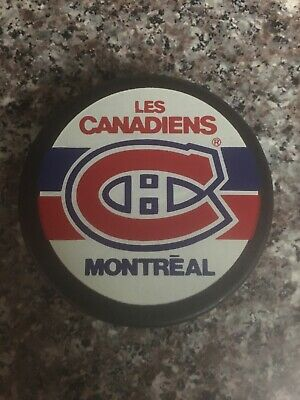 Vtg Montreal Canadiens Trench Official Hockey Puck General Tire Canada