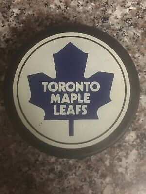 Vtg Toronto Maple Leafs Trench Official Hockey Puck General Tire Canada