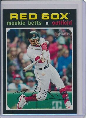 2020 Topps Heritage Action Mookie Betts