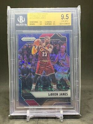 2016-17 Prizm Lebron James Blue Wave Prizms 99 BGS 9-5 Rare