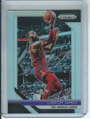 2018 19 Panini Prizm LeBron James SILVER PRIZM SP Lakers 6