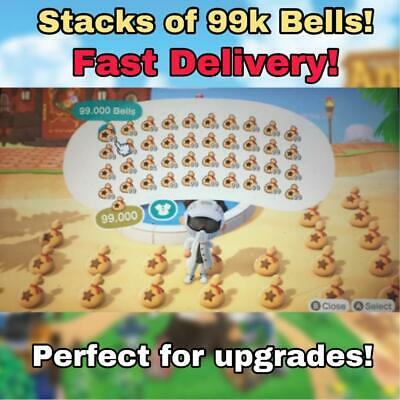 Animal Crossing New Horizons Bells  Stacks of 99 Bells  Fast Delivery