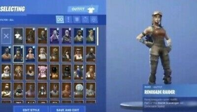 Rare Fortnite Account With Renegade Raider Galaxy Skin Assult Trooper RAFFLE