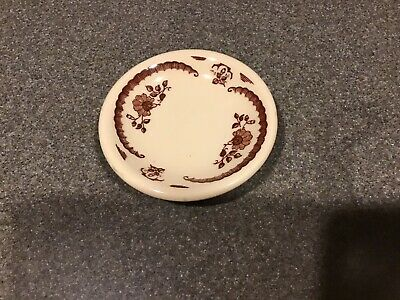 Iroquois Restaurant China Brown Floral Butter Pat
