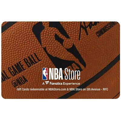 100 NBAStore-com E-Gift CardCertificate  Delivery Via US Mail Only
