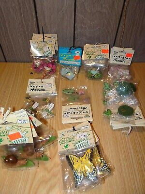 Lot of 46 Nicole Accents Craft items Garden Spring Insects etc- Resin - Wood