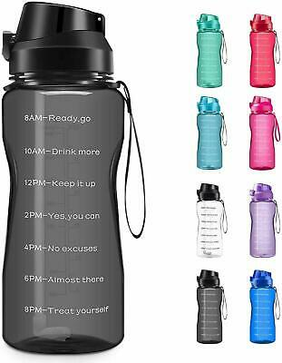 Motivational Water Bottle BPA Free 2-2L64oz  Jug with Straw and Time Tracker