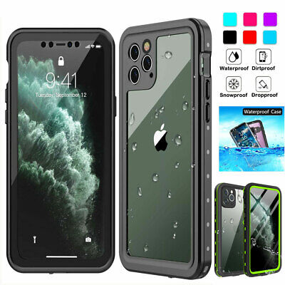 For iPhone 11 Pro XS Max XR X 6s 7 8- Waterproof Case Cover w Screen Protector