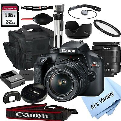 Canon EOS Rebel T100 18-0MP DSLR Camera with 18-55mm Lens- 32GB 18 PC Bundle