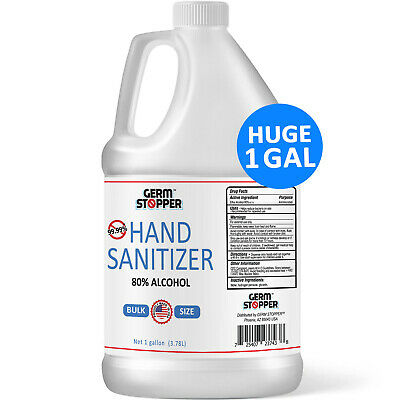 Hand Sanitizer Antimicrobial 80 Alcohol - MEETS CDC  WHO GUIDELINES - 1 GALLON