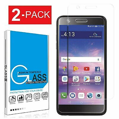 2X Tempered Glass Screen Protector For LG Premier Pro LTE  Xpression Plus  K30