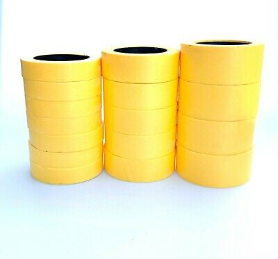 1-48 Rolls 1 1-5 or 2 Fine Edge Yellow Painters Masking Tape MADE IN USA