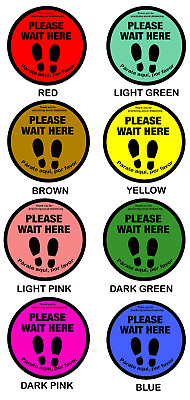 Social Distancing Floor Decal Sticker High Quality  6 feet apart  Pack of 5