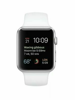 NEW Apple Watch Series 1 38mm Silver Aluminum Case White Sport Band