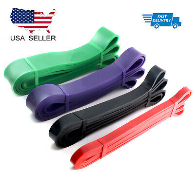 Heavy Duty Resistance Bands Set 4 Loop for Gym Exercise Pull up Fitness Workout