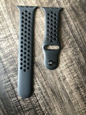 Genuine Apple Watch 42mm Nike Sports Band ML Anthracite Black Authentic D40