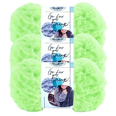 Lion Brand Yarn 322-130 Go for Faux Yarn Glow Worm Pack of 3 Skeins