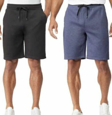 32 Cool Mens Shorts Athletic Stretch 2 Pack Blue Black Size LARGE NEW