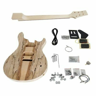 Electrical Unfinished Spalted Maple Top Solid PRS DIY Guitar Kit With Hardwares