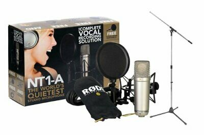 Rode NT1-A Cardioid Condenser Mic Recording Package - Tripod Base Mic FloorStand
