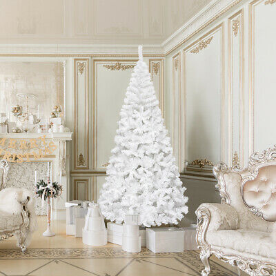 8Ft Artificial PVC Christmas Tree WStand Holiday Season Home Outdoor White