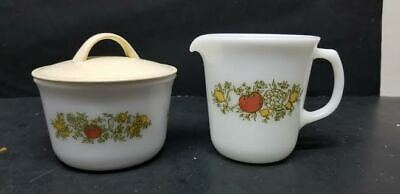 PYREX SPICE OF LIFE CREAMER and COVERED SUGAR
