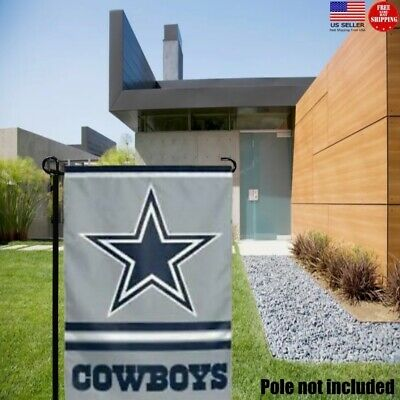 Dallas Cowboys 2 Sided Double Garden Flag Outdoor Window Banner 12 x18 New-